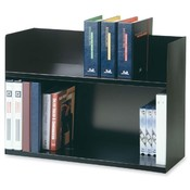 MMF Industries Two Tier Book Rack, 29-1/8'x10-3/8'x20', Black Wholesale Bulk