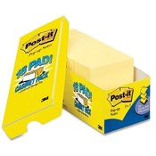 "3M Commercial Office Supply Div. Post-it Notes, Original, 3""x3"", 90 Sheets/Pad, 18/PK, Canary"