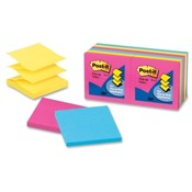 "3M Commercial Office Supply Div. Post-it Note Refills, Pop Up, 3""x3"", 12/PK, Neon Fusion"