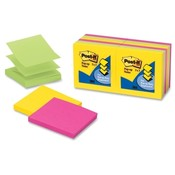 "3M Commercial Office Supply Div. Post-it Notes,Pop-up,3""x3"",100 SH/PD,12/PK,Ultra Assorted"