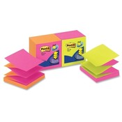"3M Commercial Office Supply Div. Post-it Pop-up Pad,Alternating Clrs,3""x3"",12/PK,Neon Fusion"