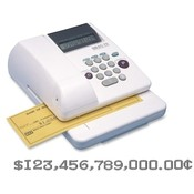 Max USA Corp Electronic Check Writer, 14 Digit, Memory Feature