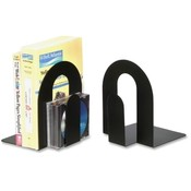Officemate International Corp Nonskid Steel Bookends, 7-1/2'x7-3/4'x9', Black Wholesale Bulk