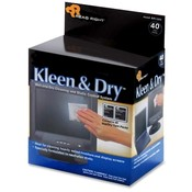 Read/Right Kleen and Dry Pads, for Screen, Twin Packs, 40/BX