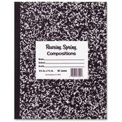 Roaring Spring Paper Products Composition Book,Marble Design,10'x8',60 Sheets,Black Wholesale Bulk