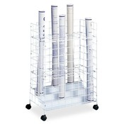 "Safco Products Company  Wire Roll File,24 Compartments,21""x14""x31-3/4"",White"