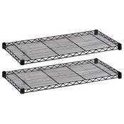 "Safco Products Company  Extra Shelves, 36""x18"", 1000 lb., 2/CT, Black"