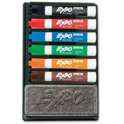 Sanford Ink Corporation Expo 2 Dry-erase Markers w/Eraser, Chisel Point, 6 AST Set