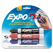 Sanford Ink Corporation Mark Away Expo Eraser Markers/Eraser, Red/Blue/Black