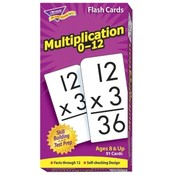 "Trend Enterprises  Math Flash Cards, Multiplication, 0 To 12, 3""x5-7/8"""