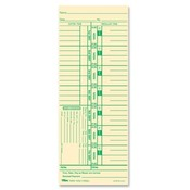 Tops Business Forms Time Cards, 143lb., 3-1/2&quot;x9&quot;, 100/PK