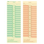Tops Business Forms Time Cards,Semi-Monthly,Numbered Days,3-1/2&quot;x10-1/2&quot;, 500/BX