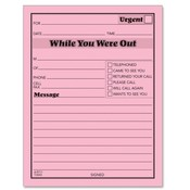 Tops Business Forms Message Pads, 4-1/4'x5-1/2', 50 Sht/Pad, 12/PK, Bright Pink Wholesale Bulk