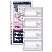 Tops Business Forms 'While You Were Out' Book, 11'x5-1/2', 200 Sets, WE/CY Paper Wholesale Bulk