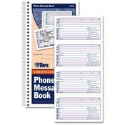 Tops Business Forms Phone Call Book, 11'x5-1/2', 400 Sets, WE/CY Paper Wholesale Bulk