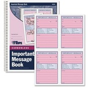 Tops Business Forms 'Important Message' Book, 11'x8-1/4', 200 Sets, PK/CY Paper Wholesale Bulk