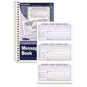 Tops Business Forms 'Important Message' Book,300 Sets,8-1/2'x5-1/2',WE/CY Paper Wholesale Bulk