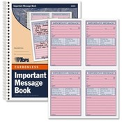 Tops Business Forms 'Important Message' Book, 11'x8-1/4', 400 Sets, PK/CY Paper Wholesale Bulk