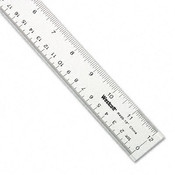 Westcott Acrylic Ruler w/Two Beveled Edges and Hang Up Hole Wholesale Bulk