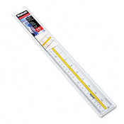 Westcott Highlighting Data Beveled Plastic Ruler 15' Clea Wholesale Bulk