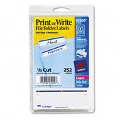 Print or Write File Folder Labels 3-7/16 x 11/16