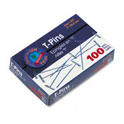 T-Pins Steel Silver 2&quot; 100 per box