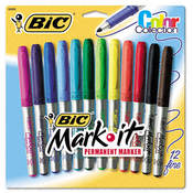 Bic Mark-It Permanent Markers Fine Point Forest