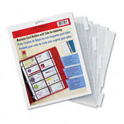 C-Line Tabbed Business Card Binder Pages 20 2 x 3 1/2 Wholesale Bulk