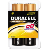 Duracell Coppertop Alkaline Batteries D 8/Pack