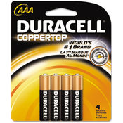 Duracell Coppertop Alkaline Batteries AAA 4/Pack