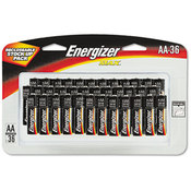 Energizer Alkaline Batteries AA 36 Batteries/Pack
