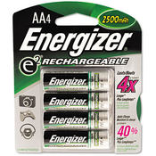 e² NiMH Rechargeable Batteries AA 4 Batteries