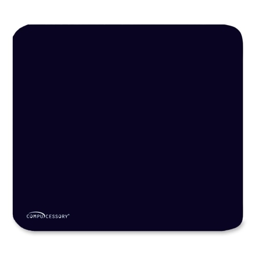 ''Compucessory Economy MOUSE PAD, Nonskid Rubber Base, 9-1/2''''x8-1/2'''', Black (948666)''