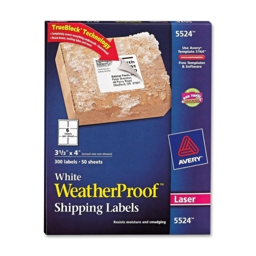 Avery consumer products weatherproof mailing labels 1 1 for Avery 3x4 labels