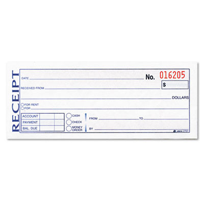 Wholesale MoneyRent Receipt Book 3Part Carbonless 234 SKU – Sample Receipt Book