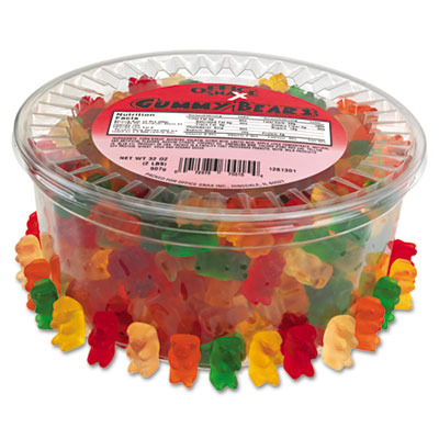 Wholesale Gummy Bears Assorted Flavors 2lb Tub Sku 497262