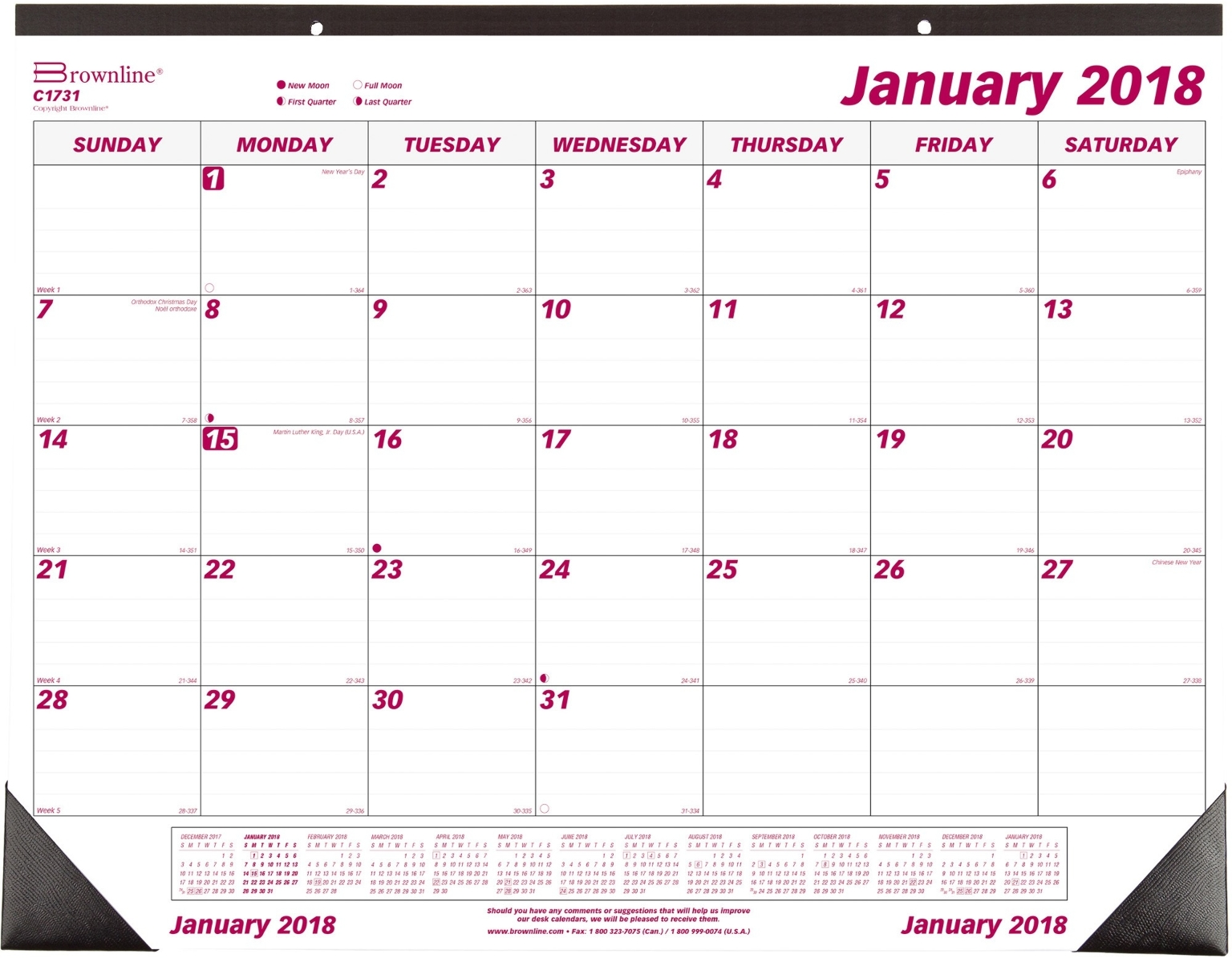 ''Monthly Desk CALENDAR 12 month, Jan-Dec, 22-3/4''''x1 [929421]''
