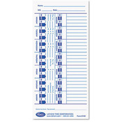 Universal Time Card White 100/Pack