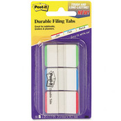Post-it Durable File Tabs 1 x 1 1/2 Striped Blue/Green Wholesale Bulk