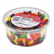 Office Snax Jelly Beans Assorted Flavors 2lb Tub 12/Carton Wholesale Bulk