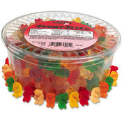 Office Snax Gummy Bears Assorted Flavors 2lb Tub 12/Carton Wholesale Bulk