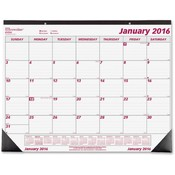Rediform Office Products Monthly Desk Calendar 12 month, Jan-Dec, 22-3/4'x1 Wholesale Bulk