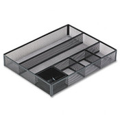 Deep Desk Drawer Organizer Metal Mesh Black
