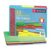 Smead File Folders 1/3 Cut Reinforced Top Tabs Letter Wholesale Bulk