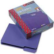 Smead File Folders 1/3 Cut Top Tab Letter Purple 10 Wholesale Bulk