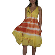 Yellow/Orange Tribal Pocket Dress