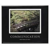 "Communication Poster, 30""x24"", Black Frame. 6 EA/CT."