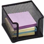 "Memo Holder, Steel Mesh, 4""x4"", Black. 6 EA/BX."
