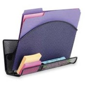 "Magnetic File Pocket,w/Organizer,Steel,12-1/2""x4""x2-1/2"",BK. ."