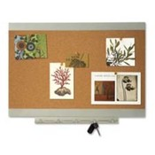 "Bulletin Board,w/Steel Accessory Tray,11""x17"",Silver. 4 EA/BX."